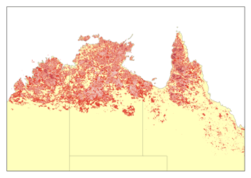 Fire Data - Australia Fire Frequency Map 1997 - 2008